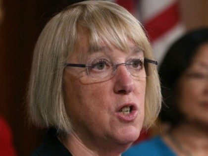 Sen.. Patty Murray (D-WA) speaks student loans for women during a news conference, on Capitol Hill June 4, 2014 in Washington, DC. Democratic women Senators held the news conference to highlight how the student loan debt for women disproportionately weighs them down and prevents them from having a fair shot. …