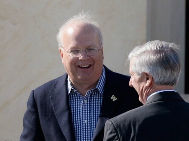 Republican political consultant Karl Rove attends the opening ceremony of the George W. Bush Presidential Center April 25, 2013 in Dallas, Texas. The Bush library, which is located on the campus of Southern Methodist University, with more than 70 million pages of paper records, 43,000 artifacts, 200 million emails and …
