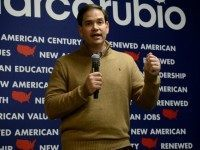 Republican Presidential candidate Marco Rubio speaks at a pancake breakfast at the Franklin VFW December 23, 2015 in Franklin, New Hampshire. Rubio handed out pancakes, spoke, and took questions from those in attendance. (Photo by