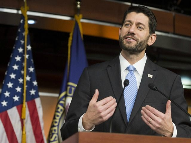 Paul Ryan, Republican of Wisconsin, holds a press conference on Capitol Hill in Washington, DC, December 17, 2015. AFP PHOTO / SAUL LOEB / AFP / SAUL LOEB (Photo credit should read