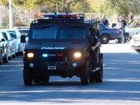 A swat team arrives at the scene of a shooting in San Bernardino, Calif., on Wednesday, Dec. 2, 2015. Police responded to reports of an active shooter at a social services facility. ( MANDATORY CREDIT
