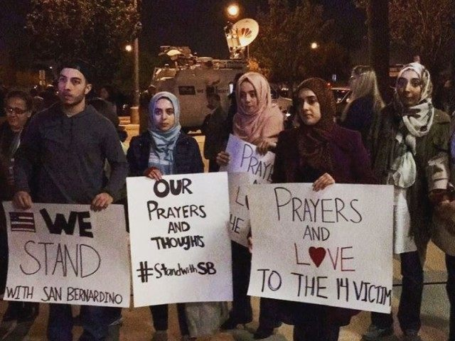 San Bernardino students at vigil (Facebook)
