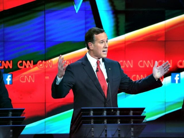 Santorum in Debate Justin Sullivan getty