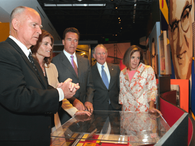 Jerry Brown at museum (Rich Pedroncelli / Associated Press)