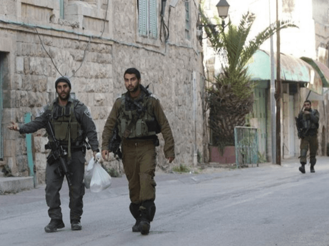 israeli security forces in west bank patrol