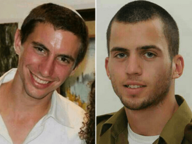 Missing Israeli soldiers Hadar Goldin and Oron Shaul