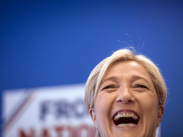 Marine Le Pen laughs