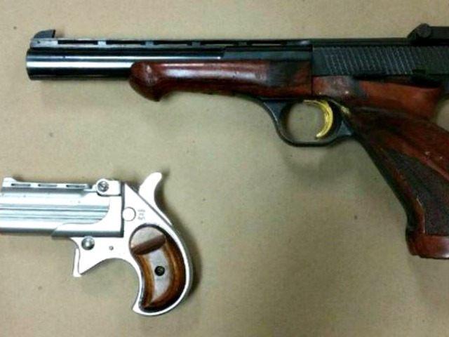Seized pistols @DCPoliceDept