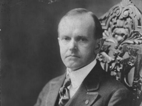 circa 1925: Calvin Coolidge, (1872 - 1933), the 30th President of the United States of America. (Photo by
