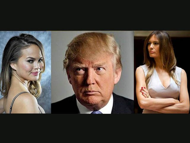 Teigen Trump and Trump