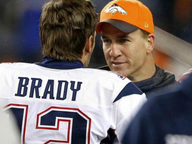 Tom Brady Peyton Manning AP