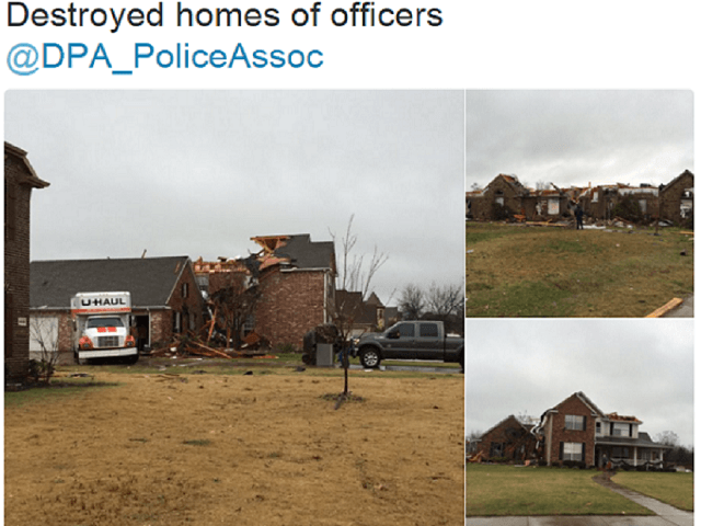 Texas Cops Homes Destroyed