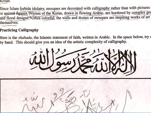 Report Virginia Teacher Of Islamic 39 Calligraphy Lesson