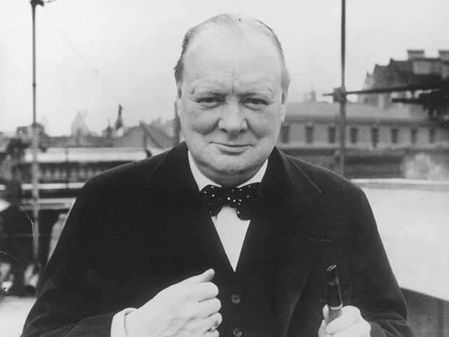April 1939: British Conservative politician Winston Churchill. (Photo by Evening Standard/Getty Images)