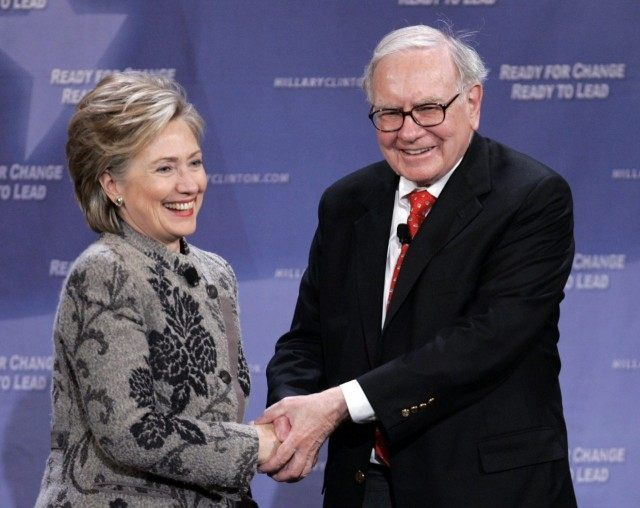 Warren Buffett, Hillary Clinton