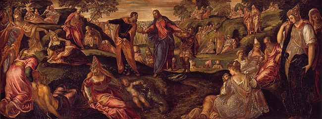 """The Miracle of the Loaves and Fishes"" by Tintoretto, Metropolitan Museum of Art"