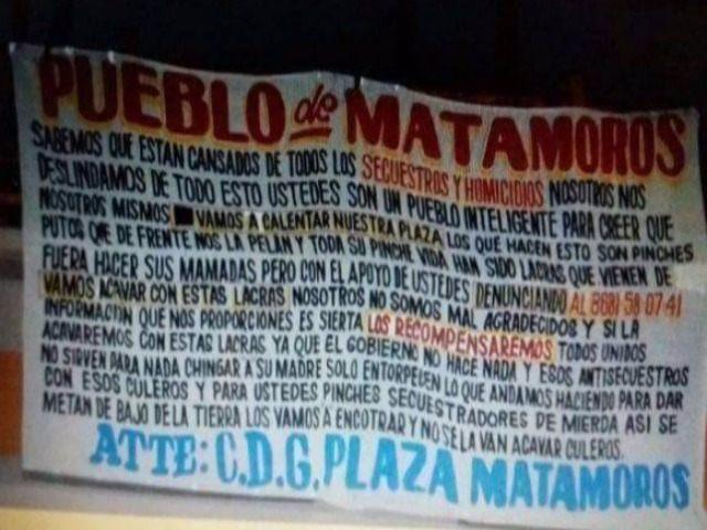 Matamoros Narco Banner