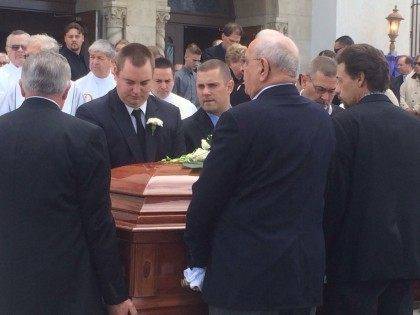 Damian Meins funeral (Adelle Nazarian / Breitbart News)