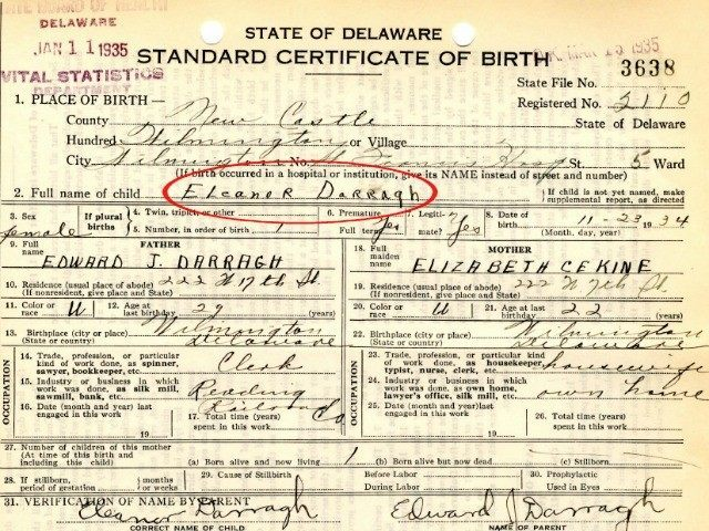 Exclusive Birth Certificate For Ted CruzS Mother  Breitbart