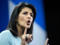 South Carolina Gov. Nikki Haley speaks to the crowd at the Kemp Forum, Saturday, Jan. 9, 2016, in Columbia, S.C.