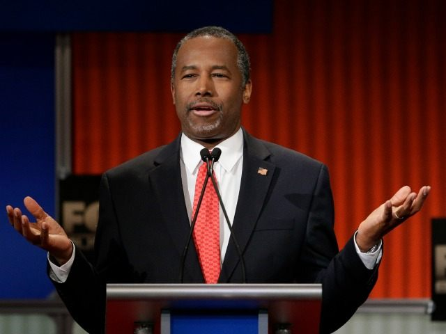Republican presidential candidate, retired neurosurgeon Ben Carson speaks during the Fox Business Network Republican presidential debate at the North Charleston Coliseum, Thursday, Jan. 14, 2016, in North Charleston, S.C. (