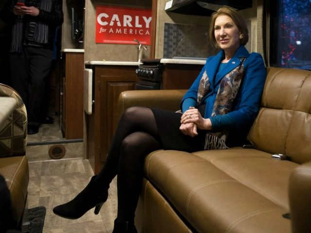Republican presidential candidate Carly Fiorina in Des Moines, Iowa, Tuesday, Jan. 12, 2016.