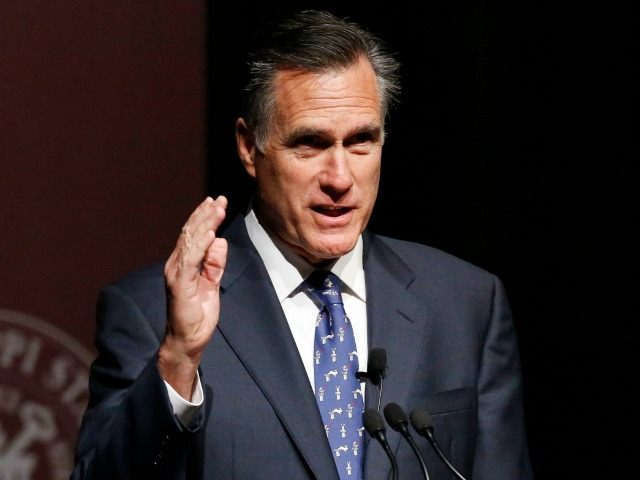 FILE - In this Jan. 28, 2015 file photo, former GOP presidential candidate Mitt Romney speaks at Mississippi State University in Starkville, Miss. Romney, the 2012 GOP presidential nominee Mitt Romney says he will not run for president in 2016. (, File)