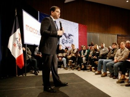 Republican presidential candidate, Sen. Marco Rubio, R-Fla., speaks at a town hall at Fisher Community Center in Marshalltown, Iowa, Wednesday, Jan. 6, 2016. (