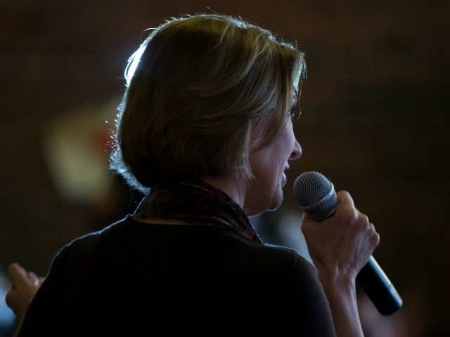 Republican presidential candidate Carly Fiorina speaks during a campaign stop at Smokey Row Coffee Company, on Wednesday, Jan. 27, 2016, in Oskaloosa, Iowa. (