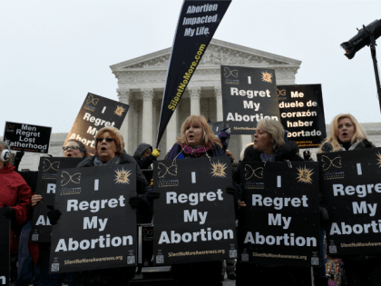 Anti-abortion supporters rally outside the Supreme Court in Washington, Friday, Jan. 22, 2016, during the March for Life 2016, the annual rally held on the anniversary of 1973 'Roe v. Wade' U.S. Supreme Court decision legalizing abortion.