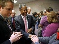 epublican presidential candidate Dr. Ben Carson greets attendees after holding a town hall at Abundant Life Ministries in Jefferson, Iowa, Monday, Jan. 11, 2016.