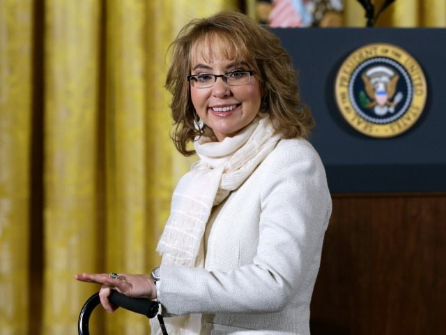 In this file photo from Tuesday, Jan. 5, 2016, former Arizona Rep. Gabby Giffords arrives in the East Room of the White House in Washington to hear President Obama speak about steps his administration is taking to reduce gun violence. In past five years, Giffords has hiked the Grand Canyon, …