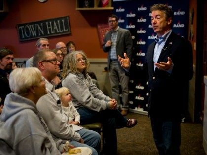 Republican presidential candidate, Sen. Rand Paul, R-Ky., speaks during his campaign event held at a restaurant, Friday, Jan. 8, 2016, in Ottumwa, Iowa.