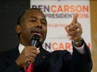 Republican presidential candidate Dr. Ben Carson speaks at a town hall, Wednesday, Jan. 6, 2016, in Panora, Iowa.