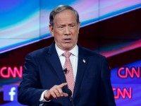 George Pataki makes a point during the CNN Republican presidential debate at the Venetian Hotel & Casino on Tuesday, Dec. 15, 2015, in Las Vegas. (