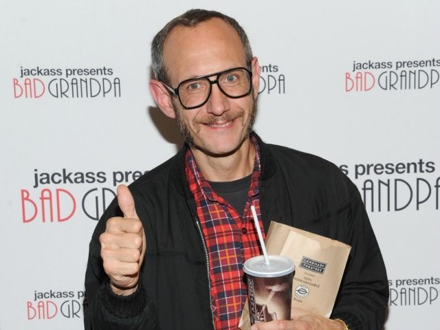"""Terry Richardson attends a special screening of """"Jackass Presents: Bad Grandpa"""" at the Sunshine Landmark Theater on Monday, Oct. 21, 2013 in New York. (Photo by"""