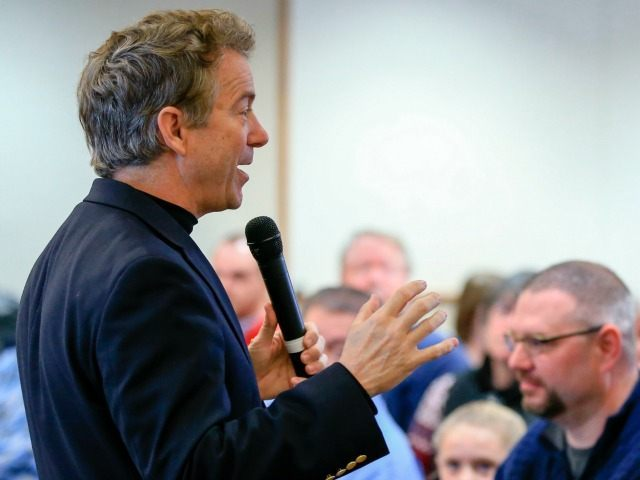 Republican presidential candidate, Sen. Rand Paul, R-Ky. speaks during a campaign stop in Council Bluffs, Iowa, Thursday, Jan. 7, 2016.