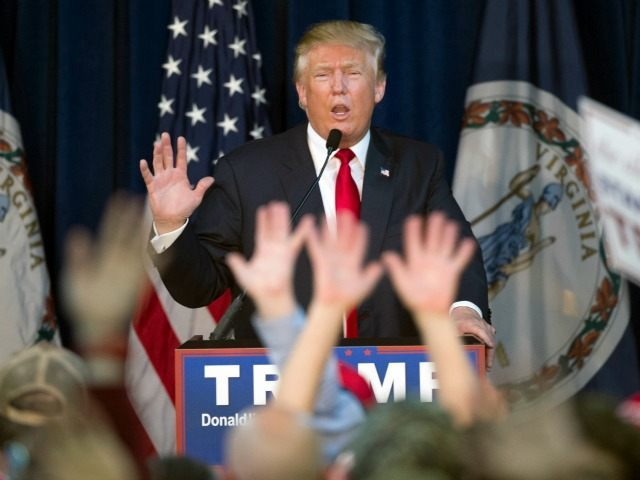 Republican presidential candidate Donald Trump speaks during a campaign rally at the Prince William County Fair Ground in Manassas, Va., Wednesday, Dec. 2, 2015.