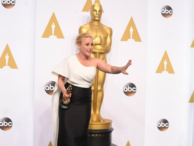 Actress Patricia Arquette winner of the award for Best Actress in a Supporting Role for 'Boyhood' poses in the press room during the 87th Annual Academy Awards at Loews Hollywood Hotel on February 22, 2015 in Hollywood, California. (Photo by )