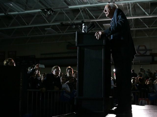 Democratic presidential candidate Sen. Bernie Sanders (I-VT) speaks during a campaign event at Grand View University January 31, 2016 in Des Moines, Iowa. Sanders hosted his last public campaign event for the Democratic nomination prior to the Iowa caucus on February 1. (Photo by )