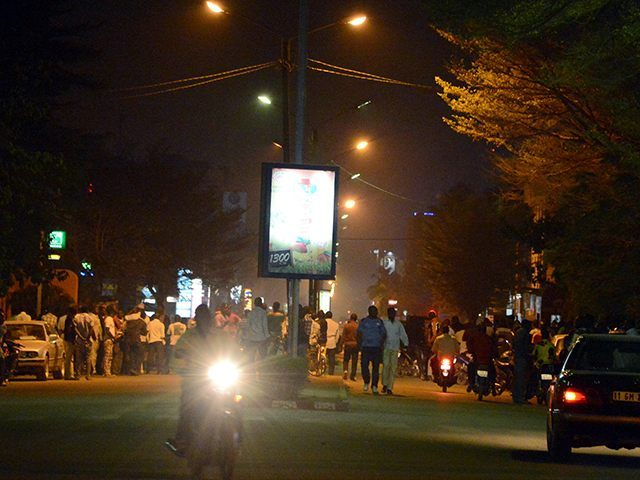People gathered on Kwame Nkruma avenue near Hotel Splendid (AHMED OUOBA/AFP/Getty Images).