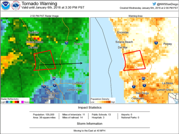 Tornado warning (National Weather Service)