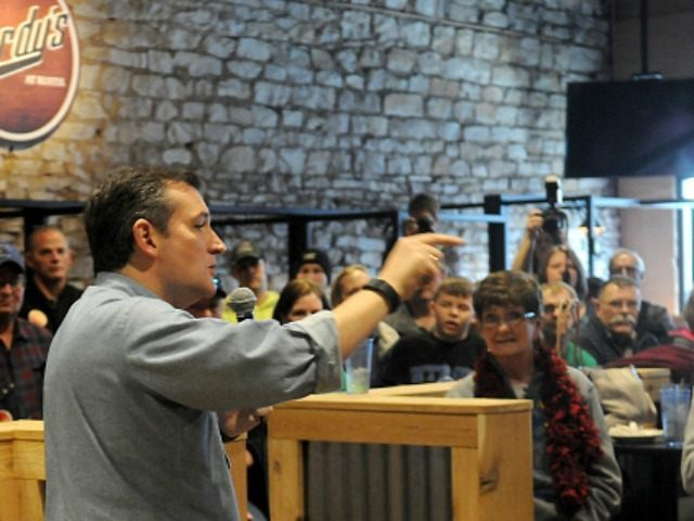 Republican presidential candidate U.S. Sen. Ted Cruz (R-TX) from Texas and 2016 presidential candidate, speaks at a campaign stop on his 'Cruzin to Caucus' bus tour on January 7, 2016 in Humboldt, Iowa. Cruz began a six-day bus tour of Iowa ahead of the state's February 1, caucuses. (Photo by