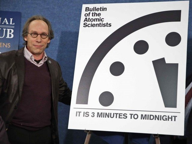 Doomsday Clock 2016 (Alex Brandon / Associated Press)