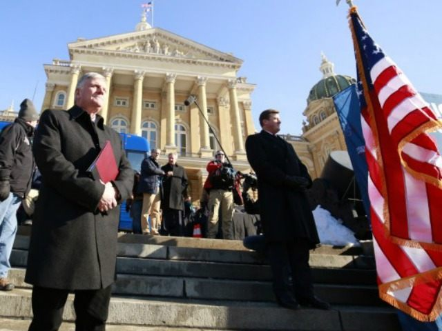 Franklin Graham at the state capital in Des Moines Iowa, Jan. 5 2016.