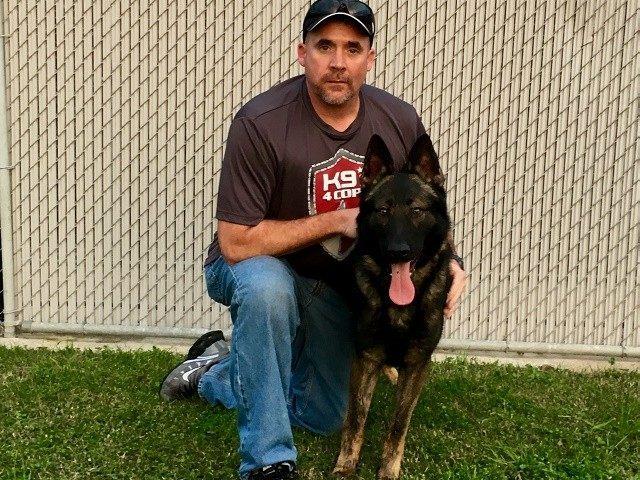 Davis and his new K9 partner Tuko