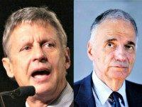 Gary Johnson (L) and Ralph Nader AP