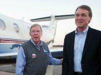 ATLANTA, GA - NOVEMBER 03: Georgia Senate candidate David Perdue campaigns one day before the midterm elections with Georgiia sen isakson at Peachtree Dekalb Airport on November 3, 2014 in Atlanta, Georgia. (Photo by Jessica McGowan/Getty Images)