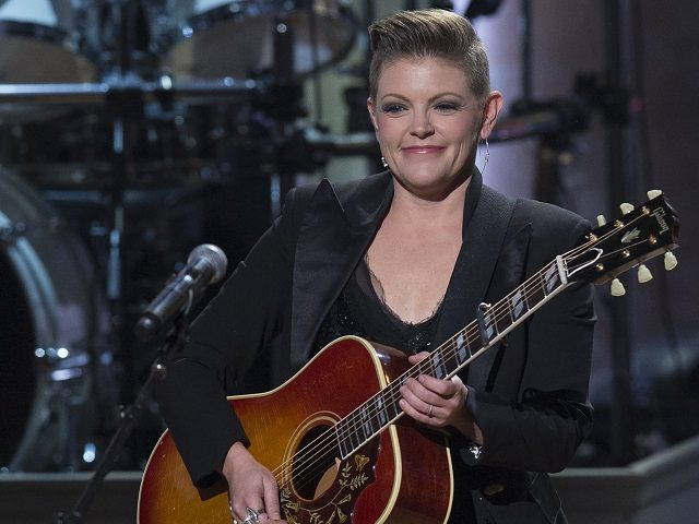 Singer Natalie Maines of the Dixie Chicks performs during a tribute concert in honor of singer Billy Joel, recipient of the 2014 Library of Congress Gershwin Prize for Popular Song, at DAR Constitution Hall in Washington, DC, November 19, 2014. The Gershwin Prize honors living musical artists whose lifetime contributions …