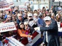 Donald Trump rallies in Norfolk